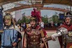 Historischer Roman Group an Ausstellung 2015 in Mailand, Italien Stockfoto