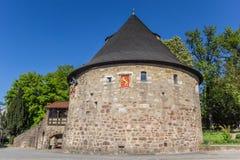 Historischer Rotunde-Verteidigungsturm in Hann Muenden Lizenzfreie Stockbilder