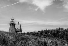 Historischer Südostleuchtturm, Block-Insel, Rhode Island Stockfotografie