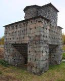 Historischer schwedischer Hochofen vom 19. Jahrhundert Stockbilder