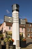 Historischer Signpost, Bedecken-Str. Edmunds Lizenzfreies Stockbild