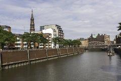 Historischer Speicherstadt-Bezirk Hamburg Deutschland Lizenzfreies Stockfoto