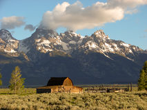 Historischer Stall Tetons im Nationalpark Stockfotos