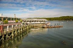 Historischer Stangen-Hafen in Maine, USA Lizenzfreies Stockbild