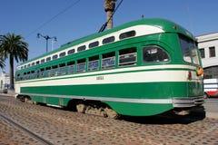 Historischer Streetcar in San Francisco Stockfotos