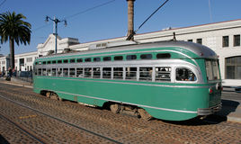 Historischer Streetcar in San Francisco Stockfotografie
