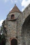 Historischer Turm in Zwingenberg stockfoto