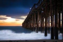Historischer Ventura-Pier Stockfotografie