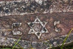Historischer verlassener jüdischer Kirchhof in Sarajevo Schattierte Entlastungskarte mit HauptStadtgebieten lizenzfreie stockbilder