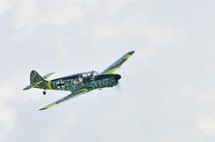 Historischer Weltkrieg 2 Messerschmitt im Flug Lizenzfreie Stockbilder