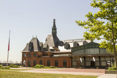 Historischer zentraler Bahnhof und Fähre stoppen, Jersey City, N Stockfotografie