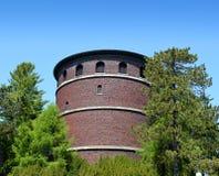 Historischer Ziegelsteinwasserturm Stockfotografie