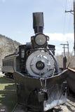 Historischer Zug auf einer Bahn Stockbild