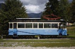 Historischer Zug von Locarno zu Domodossolas-Eisenbahn Stockfoto