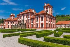 Historisches öffentliches Gebäude von Troja-Schloss, Prag, Tschechische Republik Stockfoto