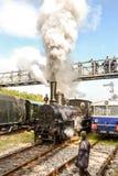 Historisches österreichisches Dampfmaschinenzurückstellen lizenzfreies stockbild