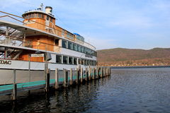 Historisches Adirondack-Kreuzfahrtboot, See George, NY Lizenzfreie Stockfotografie
