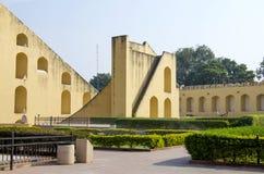 Historisches Architekturbauobservatorium Jantar Mantar India Lizenzfreie Stockbilder