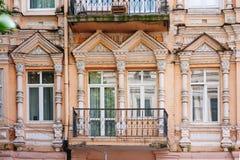 Historisches Architekturgebäude in der alten Stadt Stockbilder