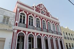 Historisches buntes Gebäude in Sao Francisco tun Sul Stockfotografie