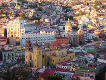 Historisches Catherdral in Guanajuato, Mexiko Stockbilder
