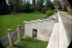 Historisches Chateau mit Garten und Park in Libochovice lizenzfreie stockfotos
