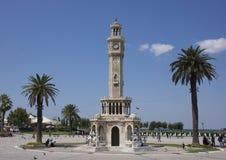 Historisches clocktower in Konak-Quadrat, Izmir stockfoto
