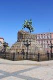 Historisches Denkmal zum Hetman Bogdan Khmelnitsky Stockfotografie
