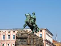 Historisches Denkmal zum Hetman Bogdan Khmelnitsky lizenzfreie stockbilder