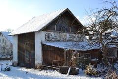 Historisches Dorf-Haus Lizenzfreie Stockbilder