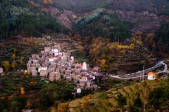 Historisches Dorf von Piodao Stockfotos