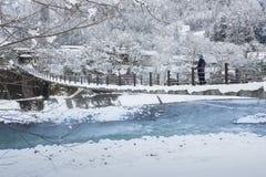 Historisches Dorf von Shirakawago im Winter, Japan Lizenzfreies Stockfoto