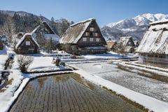 Historisches Dorf von Shirakawago im Winter, Japan Lizenzfreie Stockfotografie