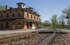 Historisches Eisenbahn-Depot Stockfoto