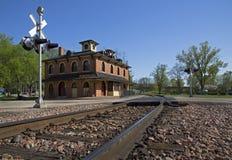 Historisches Eisenbahn-Depot Stockfotografie