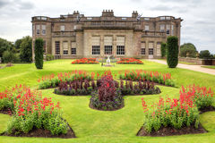 Historisches englisches prächtiges Haus Stockfotografie