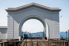 Historisches Fährterminal in San Francisco stock afbeelding