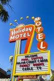 Historisches Feiertags-Motel-Zeichen Stockbilder