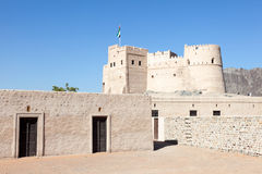 Historisches Fort in Fujairah Stockfoto