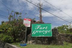Historisches Fort George in St- George` s, Grenada stockfotografie