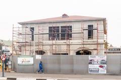 Historisches Gebäude, das in Swakopmund wieder hergestellt wird Lizenzfreies Stockbild