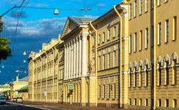 Historisches Gebäude in der Mitte von St Petersburg Stockfotos
