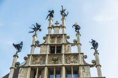 Historisches Gebäude der mittelalterlichen Stadt von Gent, Belgien Lizenzfreie Stockfotografie