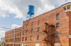 Historisches Gebäude-Fassade, Bischof Parker Warehouse Lizenzfreies Stockfoto