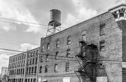 Historisches Gebäude-Fassade, Bischof Parker Warehouse Stockbilder