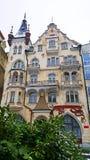 Historisches Gebäude-Hotel Romance Puskin in Karlovy Vary stockbild