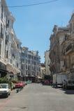 Historisches Gebäude im Jugendstil in Casablanca im Stadtzentrum gelegen Moroc Stockfotografie