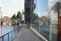 Historisches Gebäude (Mechelen) Stockfotos