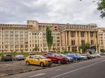 Historisches Gebäude, rumänische Akademie Lizenzfreie Stockfotografie