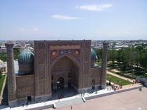 Historisches Gebäude Samarkands Stockfoto